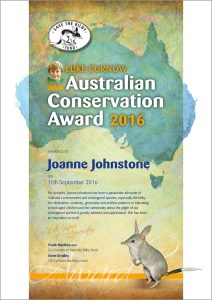 Luke Curnow Conservation Award 2016