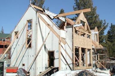 Wood framing, roof and window bucks
