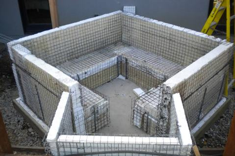 TriD panels used to form off the grid hot tub