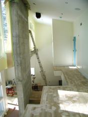 Structural shear wall and atrium floor