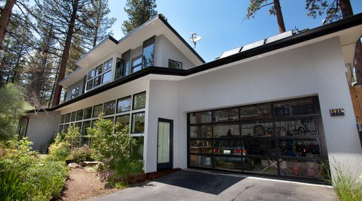 South façade takes advantage of passive solar heating