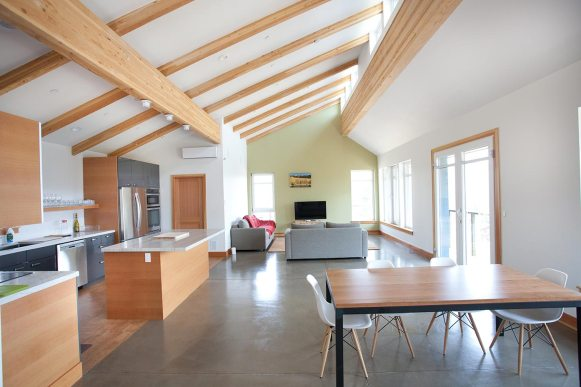 Natural daylighting in open living space