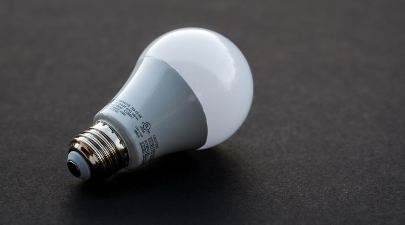 an image showing an LED lightbulb designed to replace an incandescent bulb.