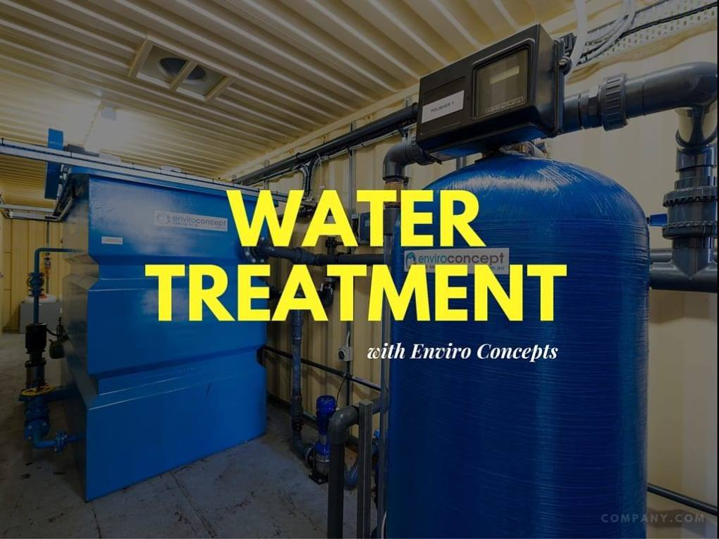 wastewater, water treatment, enviro concepts