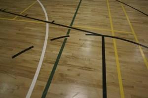 Timber sports floor maintenance