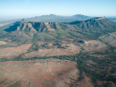 Wilpena Pound from the Air, Flinders Ranges, South Australia