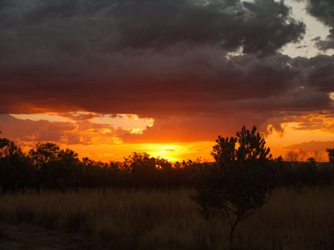 Sunset over El Questro Station, Kimberleys, Western Australia
