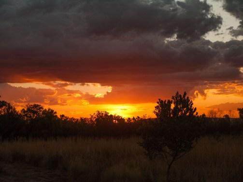 Sunset over El Questro Station, Kimberleys, Western Australia