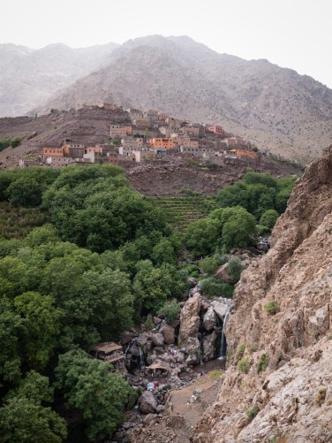 The town of Aroumd situated high in the mountains, Morocco