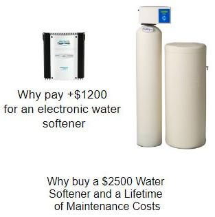 Electronic and expensive water softeners