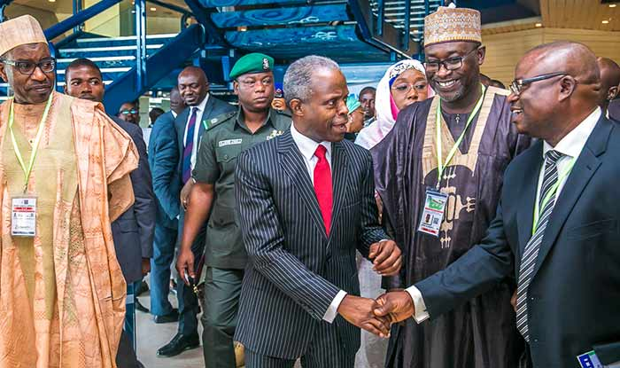 Osinbajo1 - Osinbajo tasks NIPSS @40 to lift 100m Nigerians out of poverty