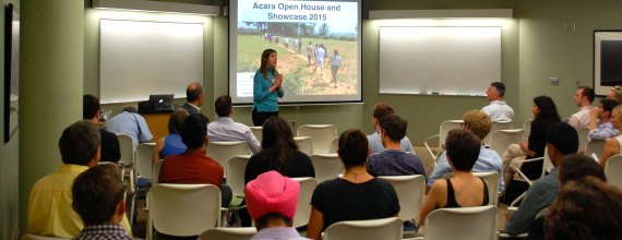 Jessica Hellmann gives a lecture about the Acara Open House and Showcase