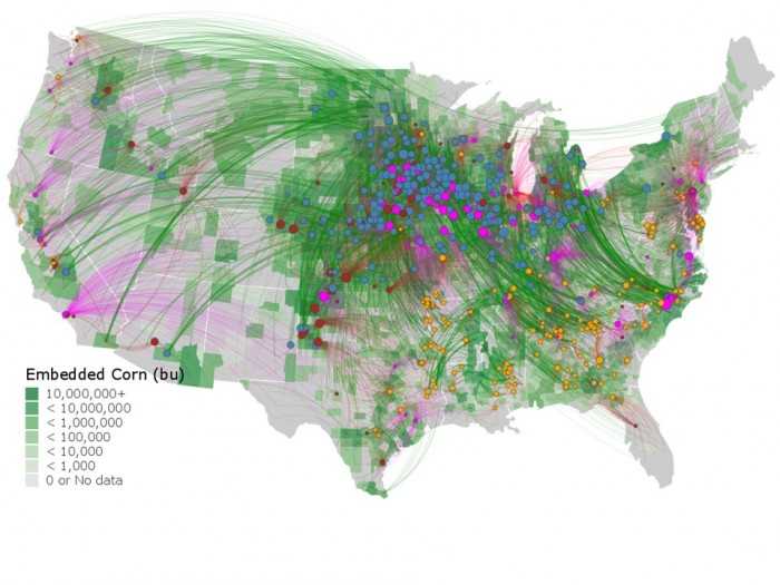 map created by NorthStar Initiative showing corn movement
