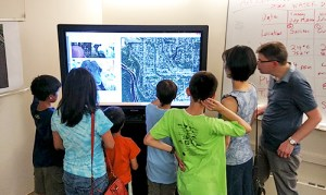 Children Use an Interactive Map