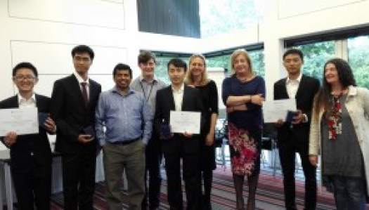 Action shots of the winning team's proposals (above). The winner team and judges from left to right: Peng Jie, Zhang Baori, Rohan Fernando, George King, Jiang Ziliang, Pamela McIlldowie, Nicola Dobson, Huang Ledeng (below)
