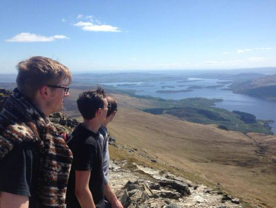 Enjoying the view from the summit of Ben Lomond