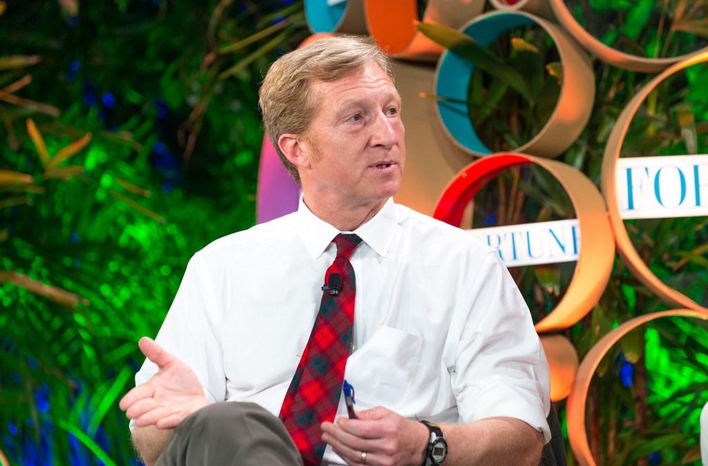 """Green"" Billionaire Tom Steyer Campaigns in Virginia"
