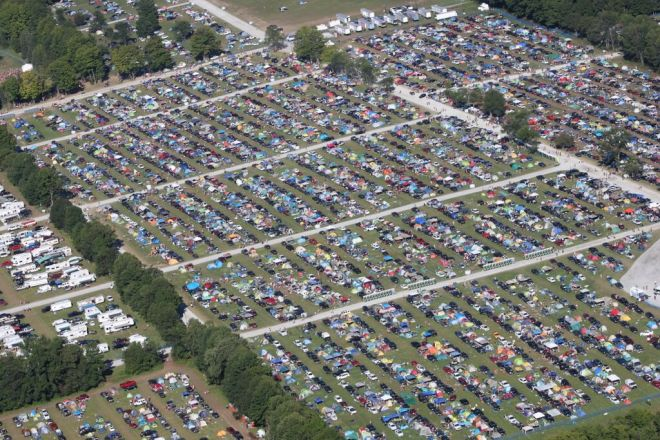 Illegal camping and parking at Burl's Creek Event Ground