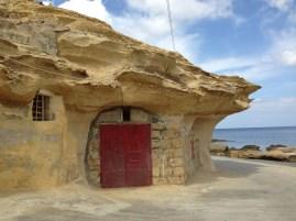 """A """"boathouse"""" at Xwejni."""