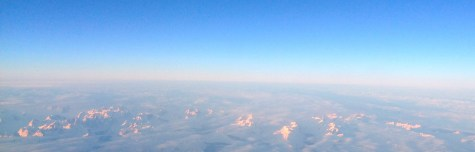 Southern Greenland, crossing over the east coast.