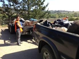 Filling the trucks full of trash