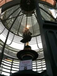 Light beam inside the lighthouse.
