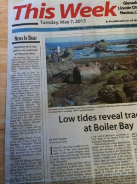 IMBD event on the Lincoln City newspaper