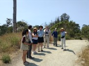 Practicing leading our own tour group in English