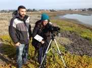 Monterey, CA interns Carlos and Karina on an introductory day to surveying by 2013 intern Hugo!