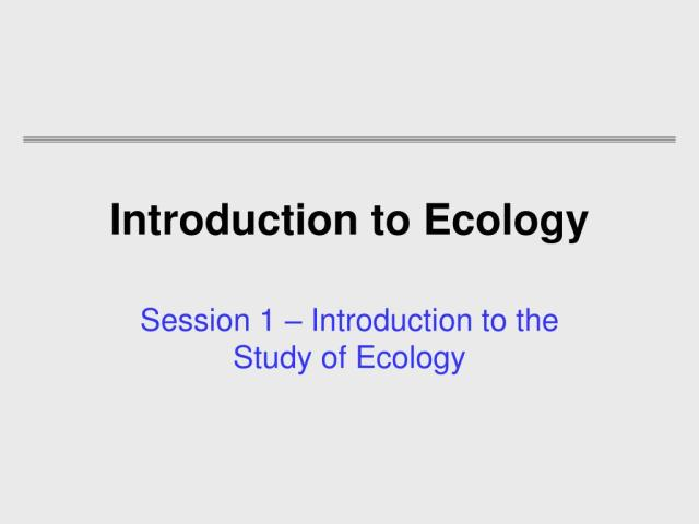 Introduction to Ecology | +PDF