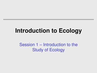 introduction-to-ecology