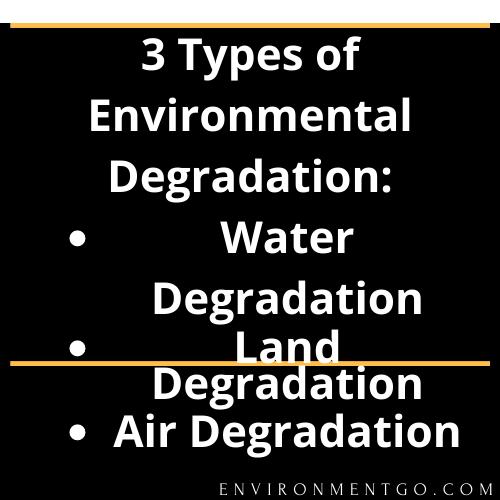 3 Types of Environmental Degradation