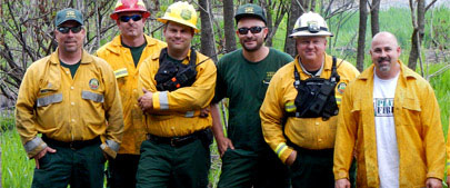 Far right: Steve Sinunu, President & CEO. Jordan Pon Fire, Lake City, FL.