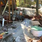 compacted gravel around new septic tank 1-2-2017