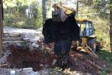 demolishing metal septic tank 1-2-2017