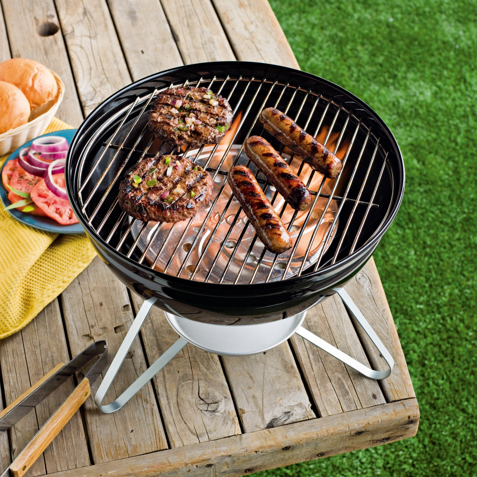 The FlameDisk Charcoal (grilling) Alternative is fueled by solid ethanol