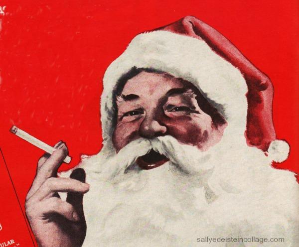Vintage Illustration Santa Smoking 1951 Envisioning The