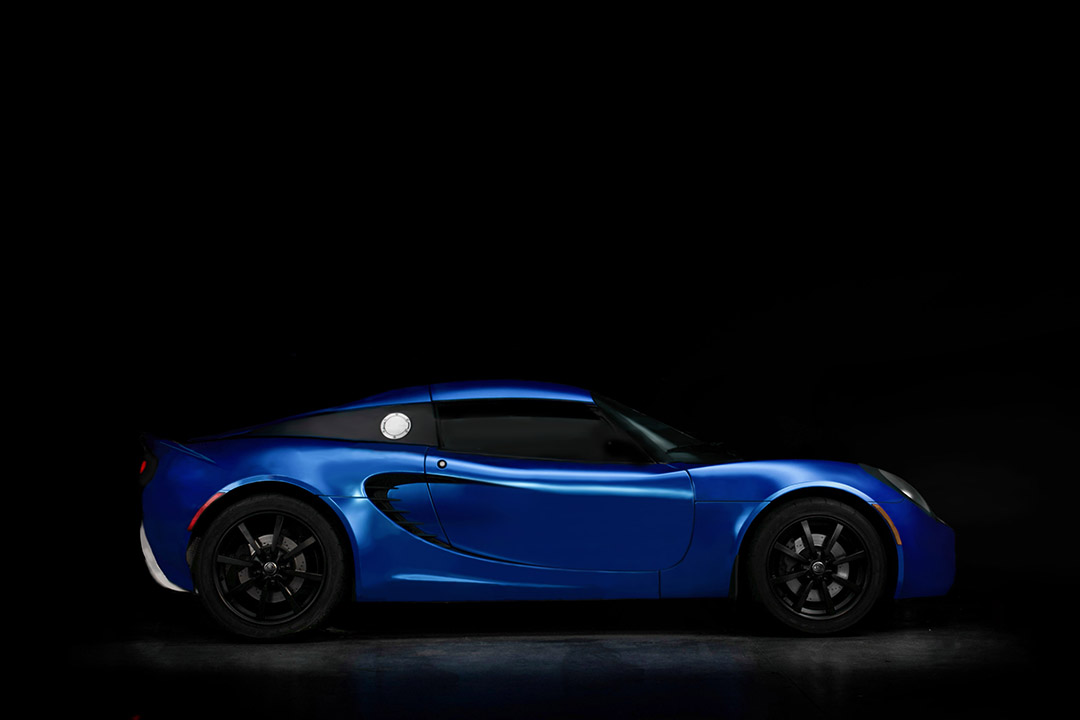 Satin Blue Chrome Lotus