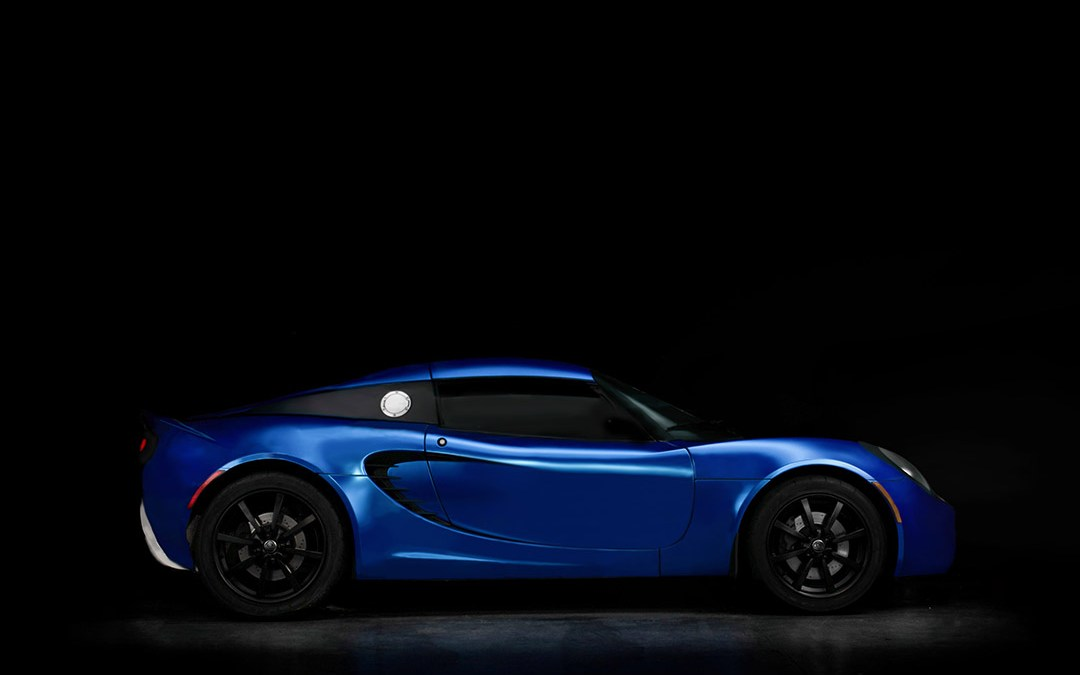 Satin Blue Chrome Lotus