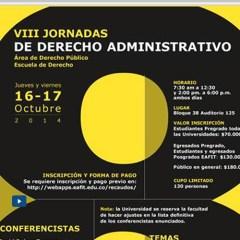 VIII Jornadas de derecho administrativo