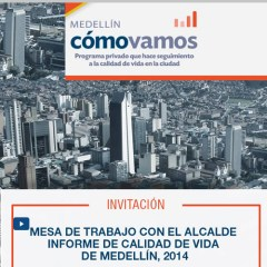 Informe de calidad de vida de Medellín, 2014