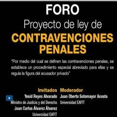 Foro – Proyecto de ley de contravenciones penales