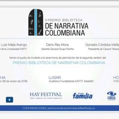 Ceremonia de premiación del II Premio Biblioteca de Narrativa Colombiana