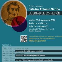 Primera Versión Cátedra Antonio Nariño Libertad De Expresión