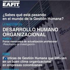 Prácticas de Gestión Humana que influyen en un buen clima organizacional en empresas colombianas