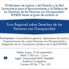 Foro Regional sobre derechos de las personas con discapacidad