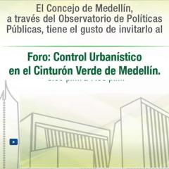 Control urbanístico en el cinturón verde de Medellín