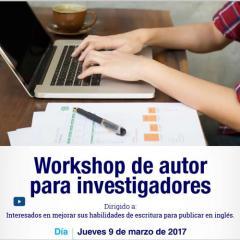 Workshop de autor para investigadores