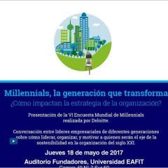 Presentación de la VI Encuesta Mundial de Millennials realizada por Deloitte