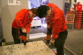 Hilti showing off tools at Build NZ